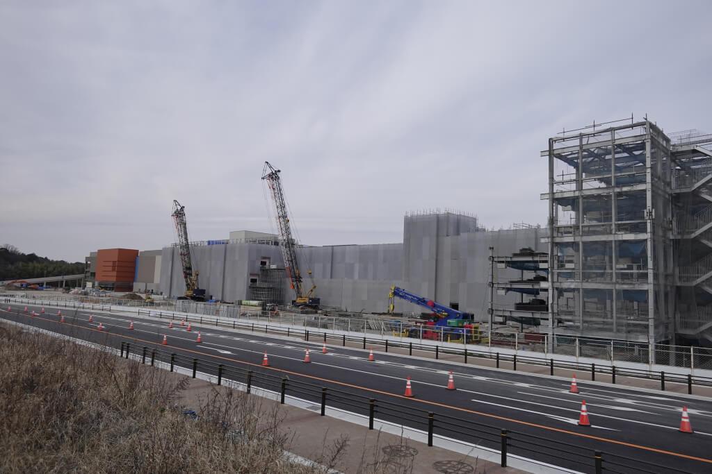 2019年12月、ららぽーと東郷工事中の写真、外観ほぼ
