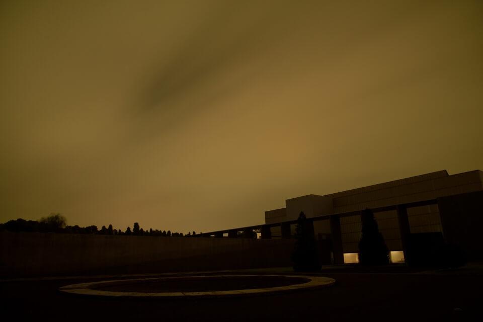 豊田市美術館の夜景写真