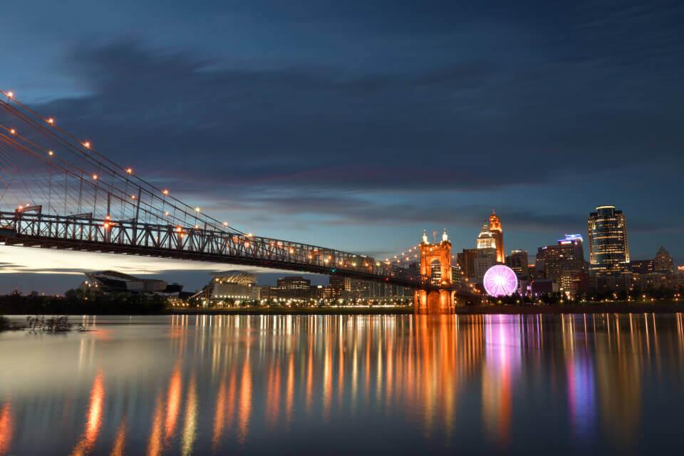 シンシナティ夜景写真