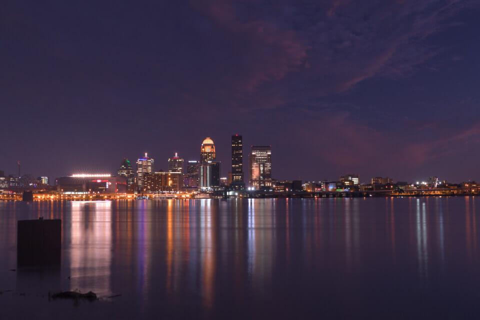 ルイビル夜景写真