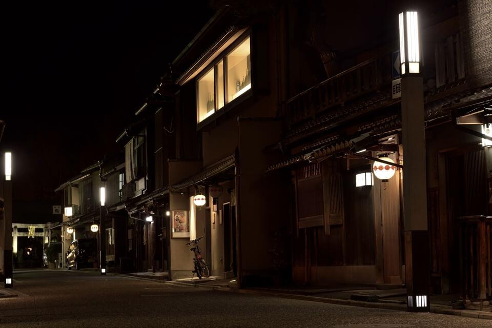 上七軒の夜景写真