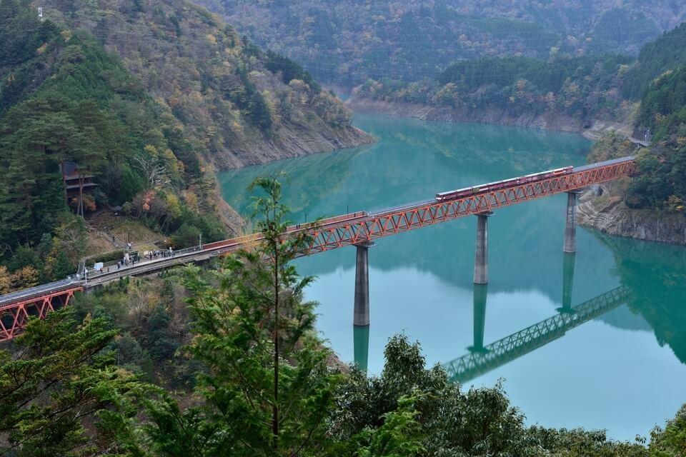 奥大井湖上駅・大井川鉄道の写真
