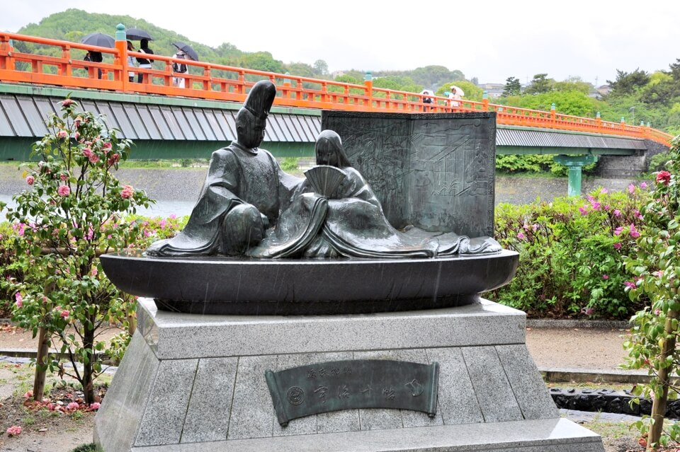 宇治上神社・宇治川の写真