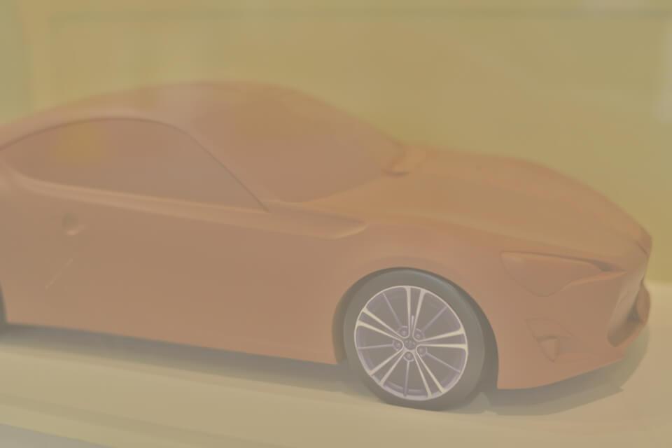 未来の車は丸みを帯びたデザインスタイル