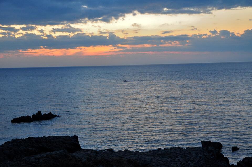東尋坊の夕陽写真
