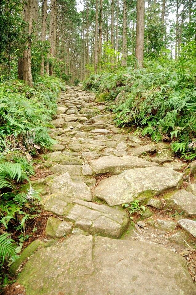 馬越峠の石畳写真
