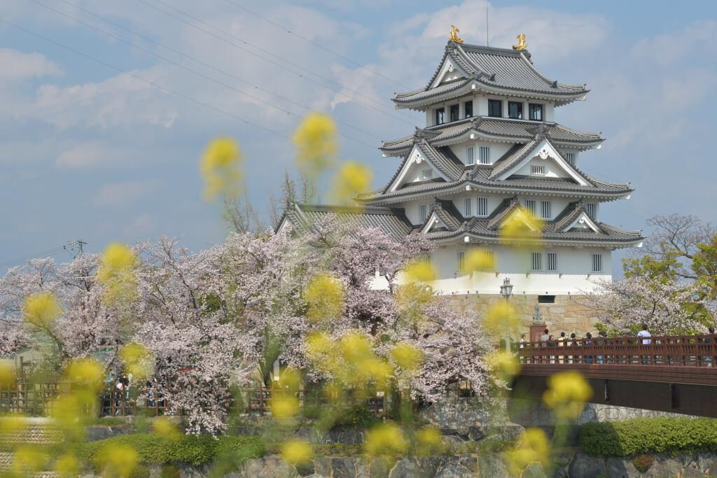 墨俣一夜城の桜写真