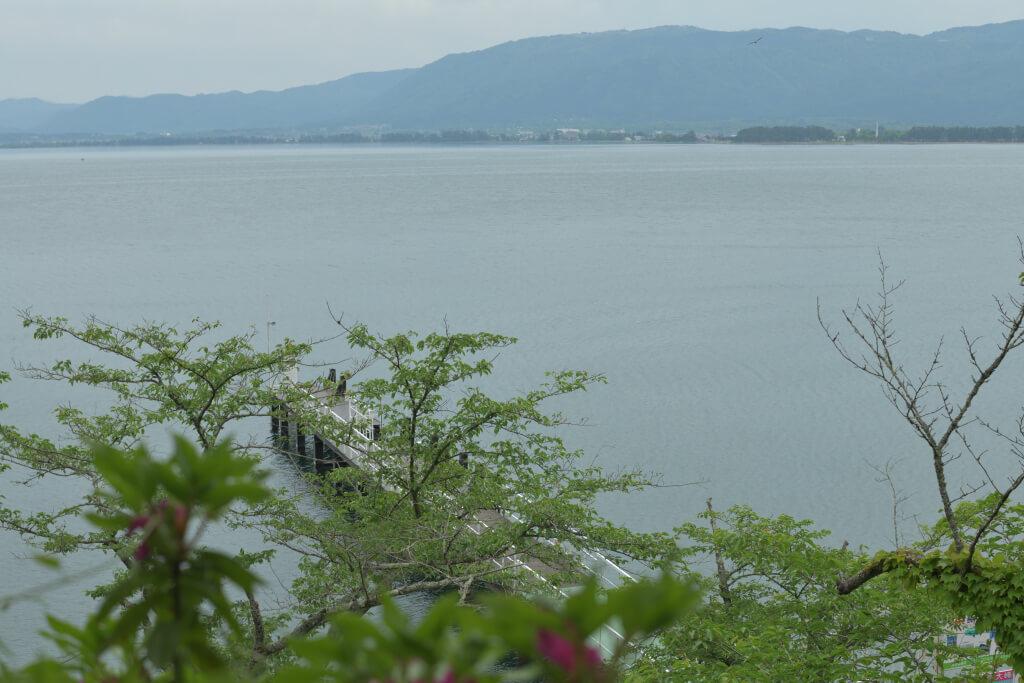 海津大崎からの琵琶湖写真