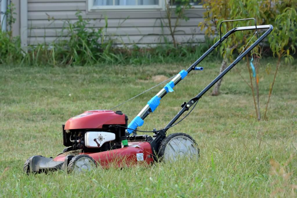 アメリカで芝刈り機