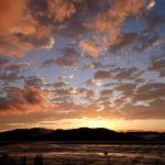 豪雨からの夕陽