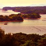 桐垣展望台の夕陽風写真