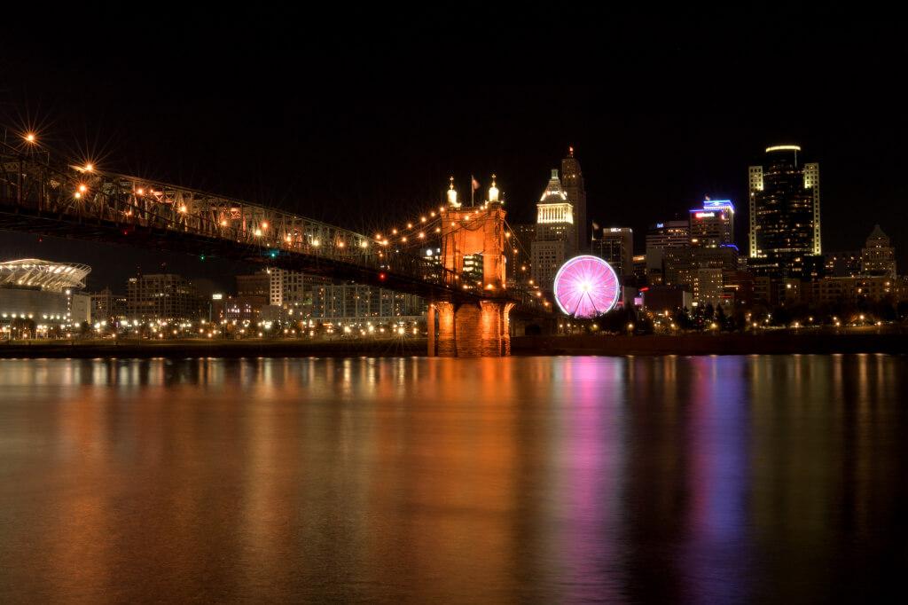 シンシナティ観光夜景写真