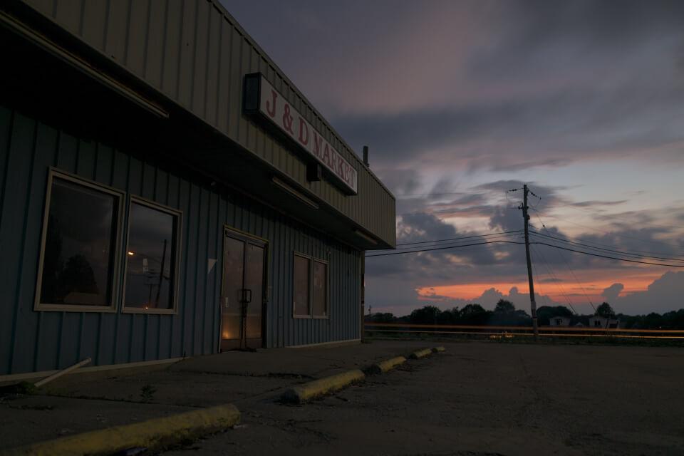 アメリカの廃墟を夜景写真撮影