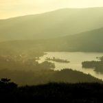 白樺湖の早朝写真