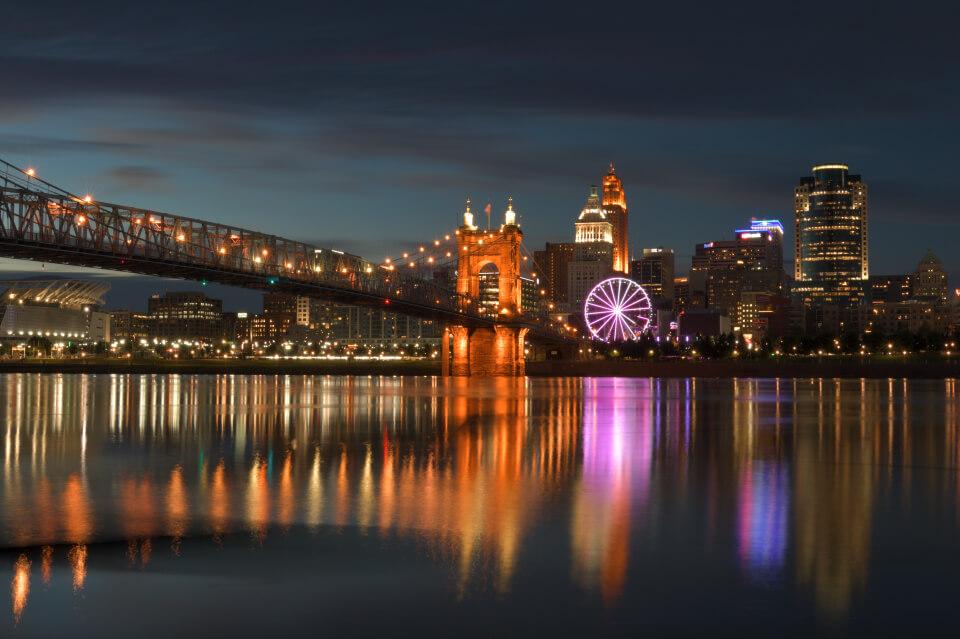 アメリカ大都市・夜景写真撮影名所 シンシナティ・オハイオ州