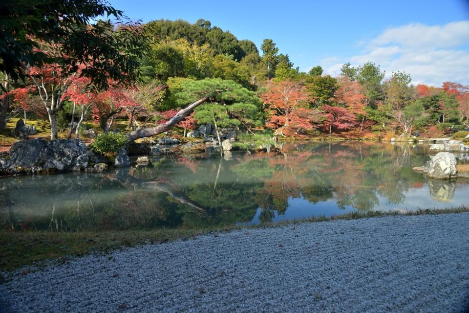 天龍寺の紅葉写真