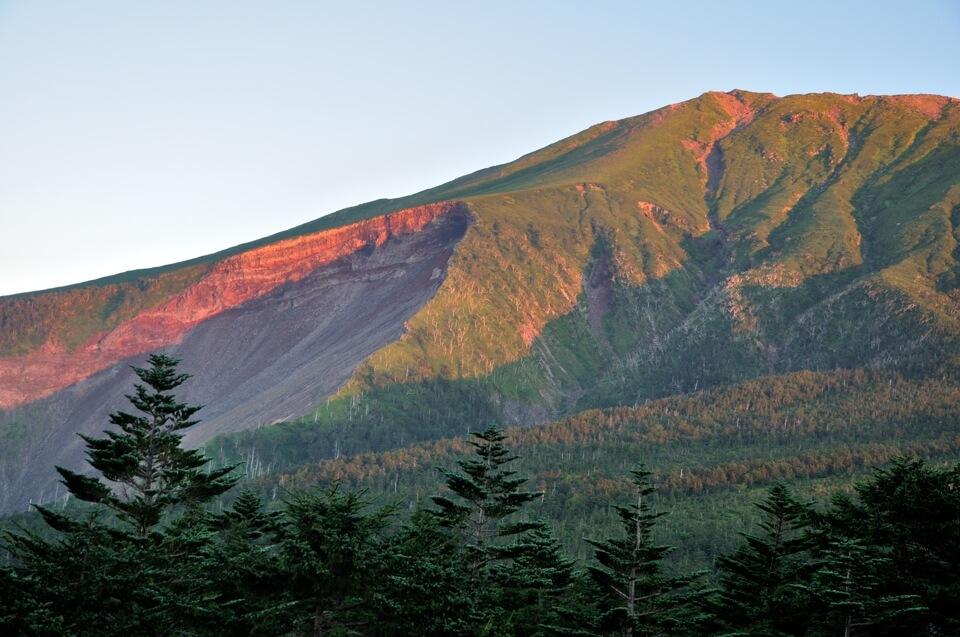 御嶽山の噴火前写真