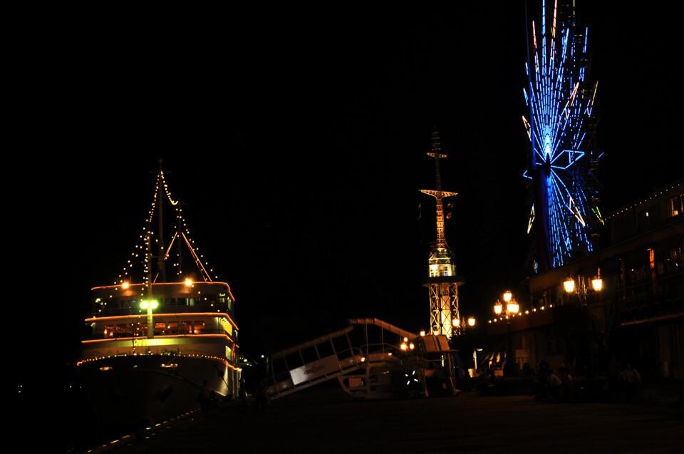 神戸ハーバーランド夜景写真