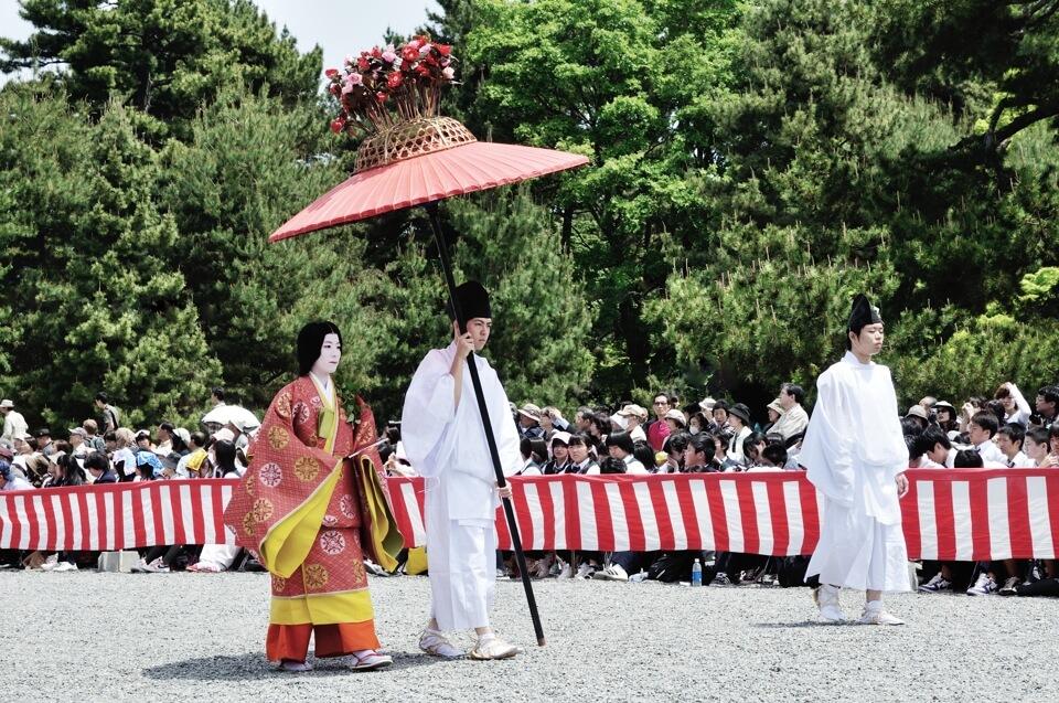 葵祭の写真を有料観覧席