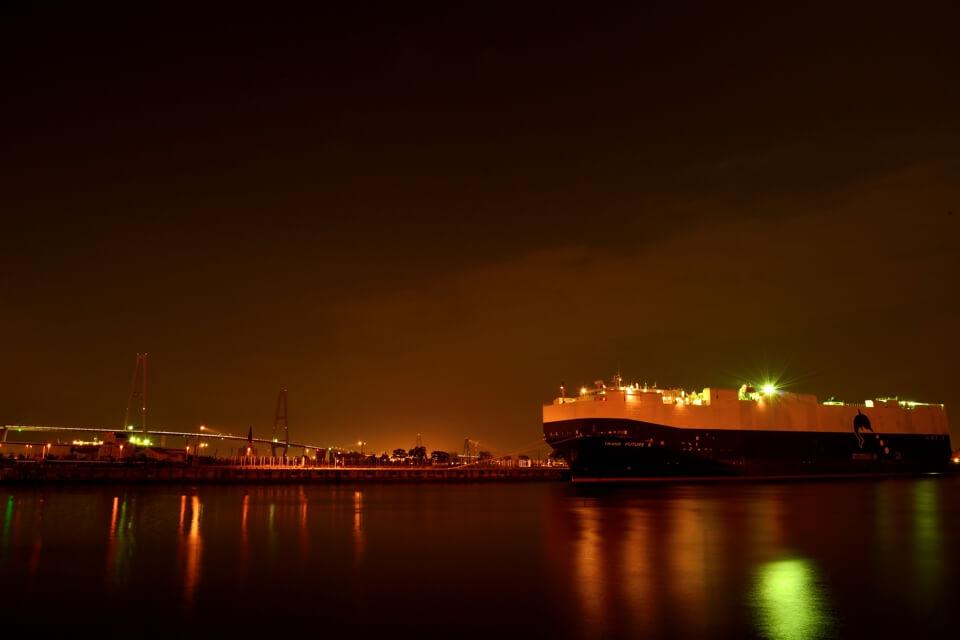 金城ふ頭の夜景写真1