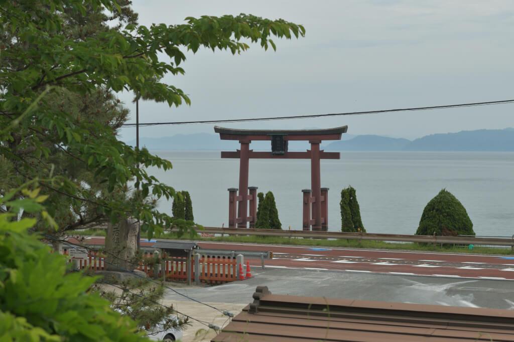 白鬚神社大鳥居の写真
