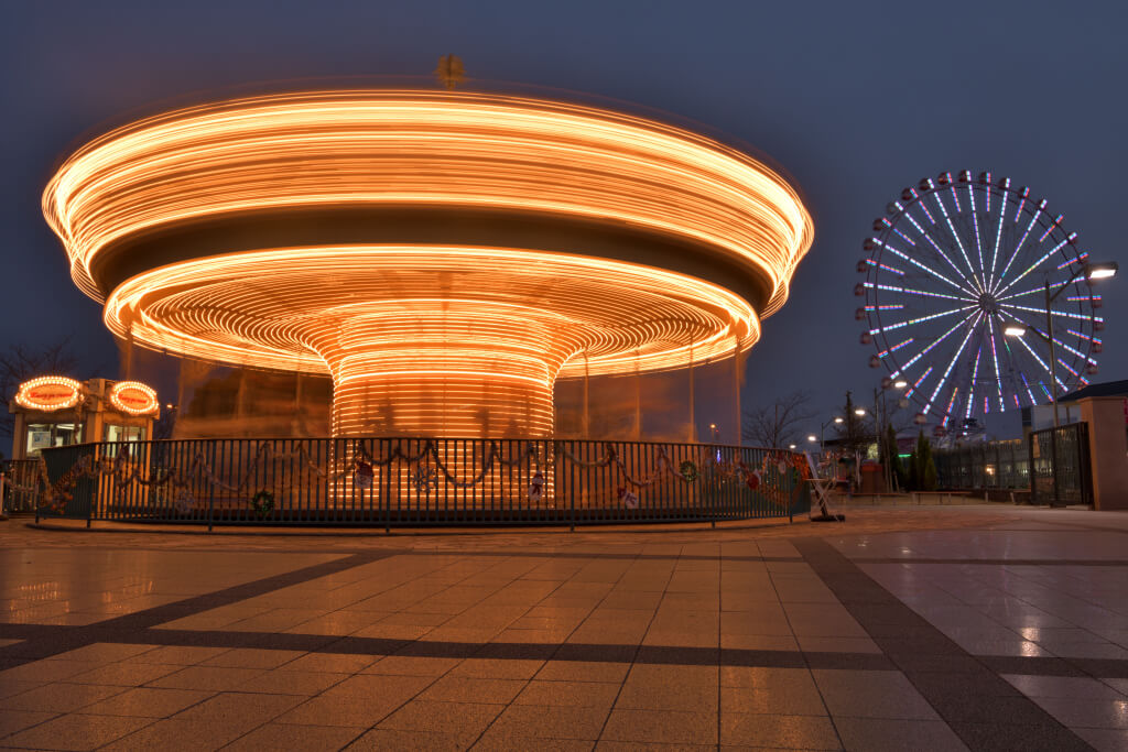 刈谷ハイウェイオアシス夜景写真