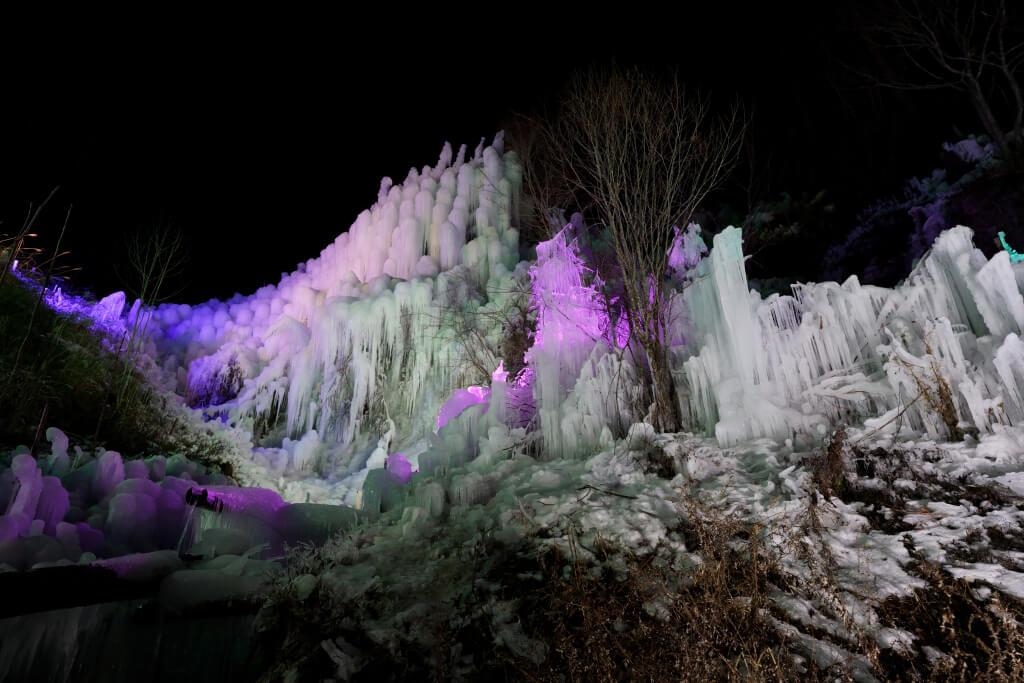稲武の氷瀑写真