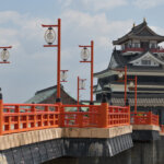 桜の清洲城写真