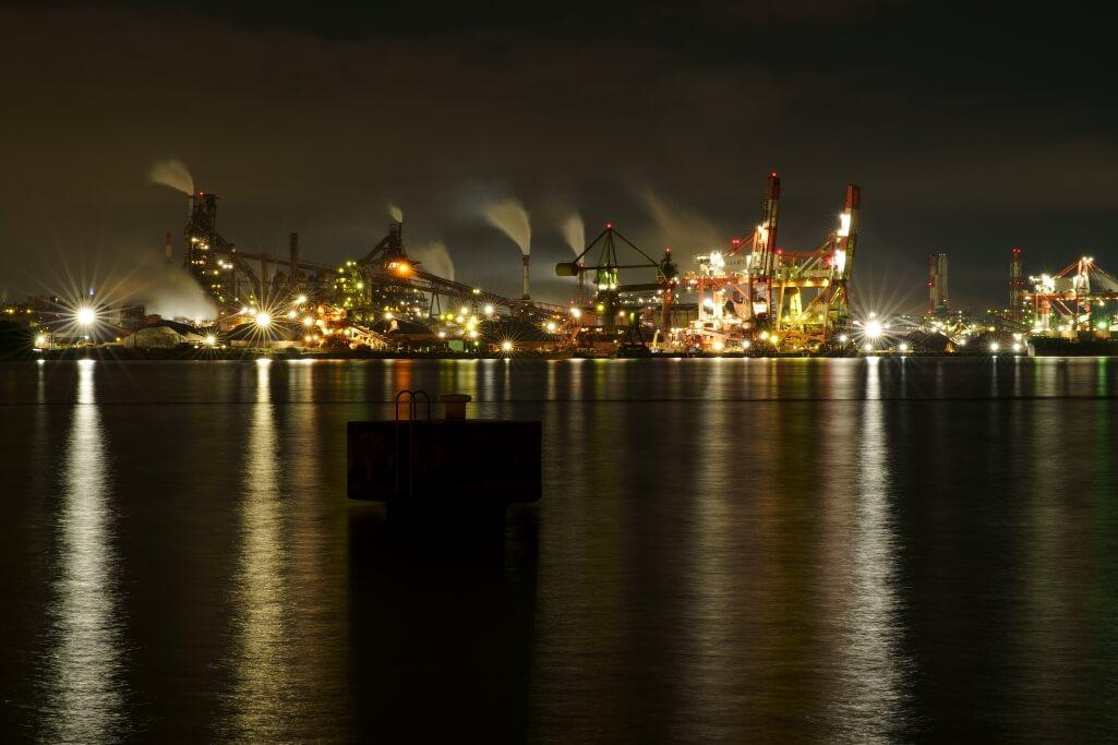 名古屋港9号地南堤夜景写真
